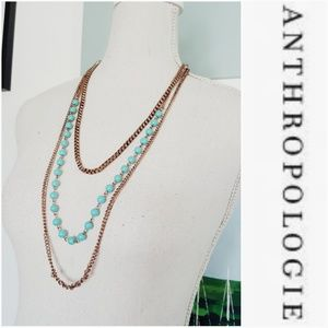 ANTHROPOLOGIE MULTI STRAND NECKLACE